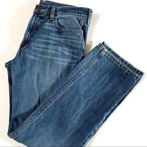 Medium wash Straight leg blue jeans size 32 x 32